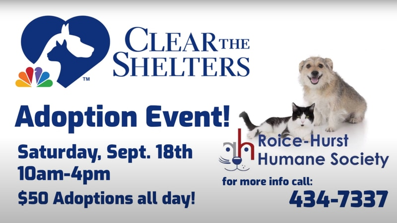 Roice-Hurst Humane Society Clear the Shelters