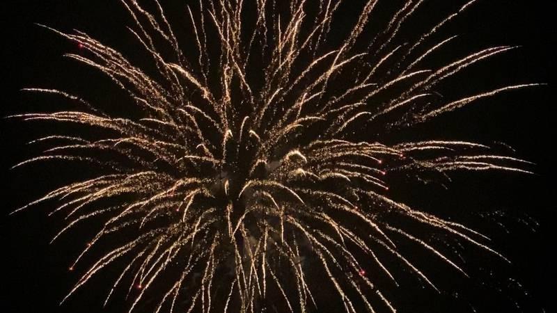 Fireworks over Suplizio Field on July 4, 2021