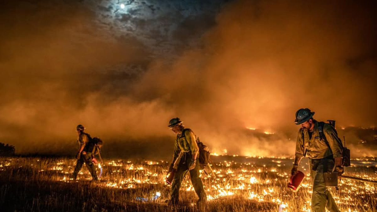 Hotshot crews from multiple states have traveled to help fight the Pine Gulch Fire, the fifth...