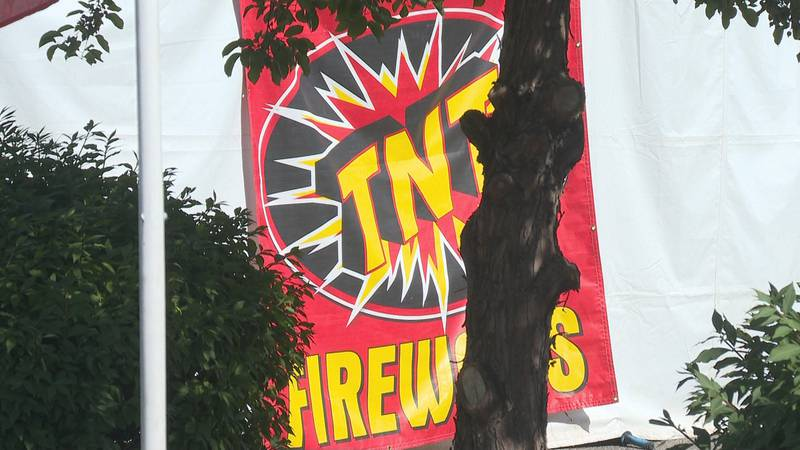 Tents selling personal fireworks have appeared in parking lots around the Grand Valley.
