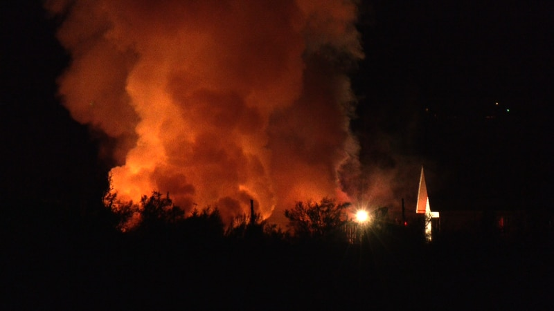 Two abandoned trailer homes caught on fire around 9 PM Saturday night.