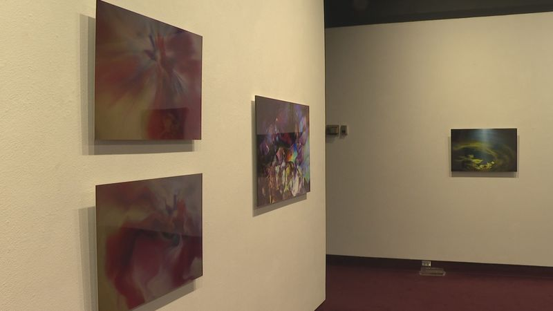 David Lord's exhibit shows various lighting and refraction techniques in photography.