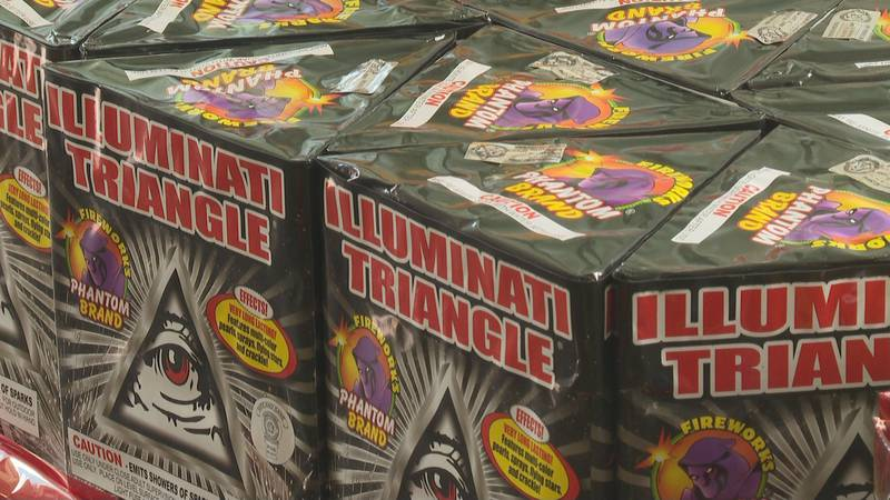 The use of personal fireworks such as these are banned in Mesa County given current concerns...