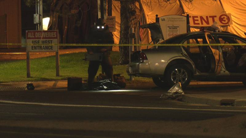 The accident happened near the VA Hospital in Grand Junction, Colo.