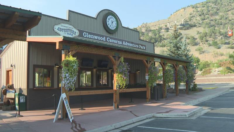 The entrance to the Glenwood Caverns Adventure Park in Glenwood Springs, Colo.