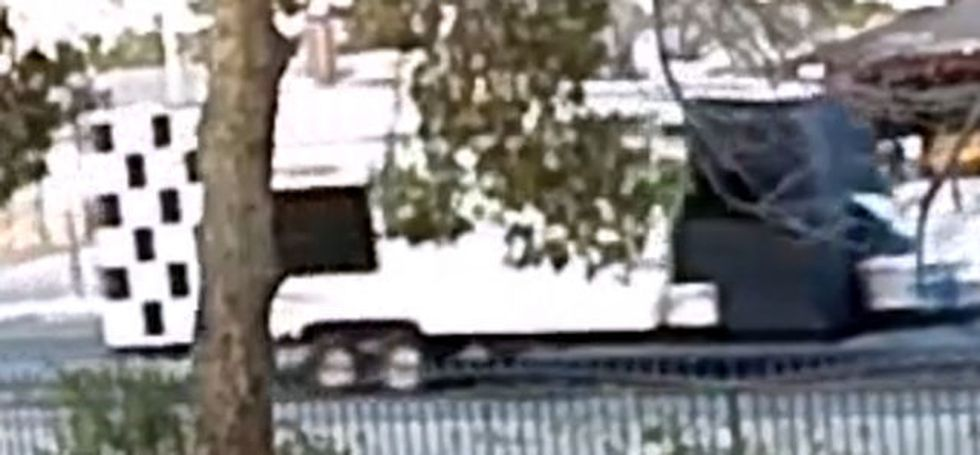 The Las Vegas Metropolitan Police Department released this photograph of the trailer used by...