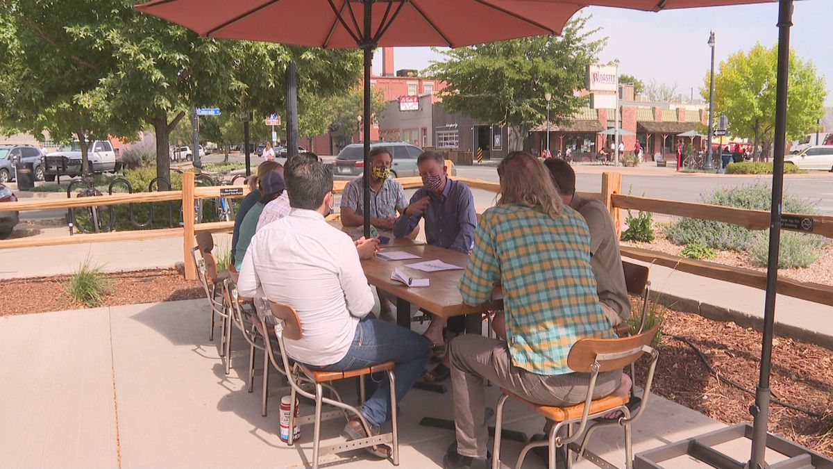 John Hickenlooper meets with people on Public Lands Day