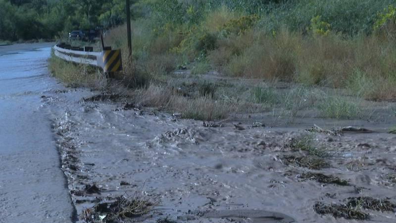 Monument road flood
