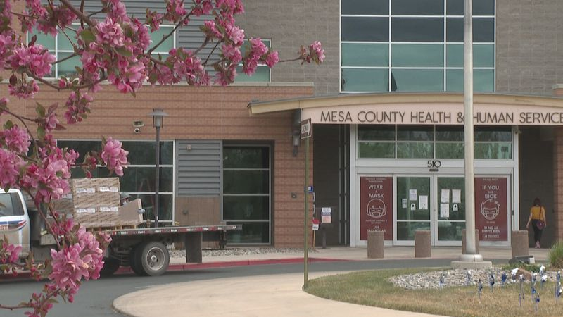 The outside of the Mesa County Public Health Department's office in Grand Junction, Colo.