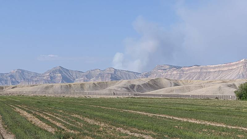 Crews are responding to weed fire near the Bookcliffs.