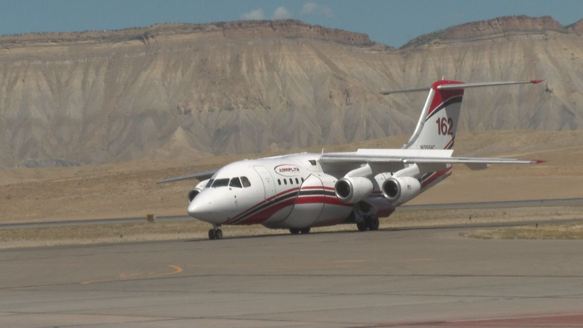 Fighting Western Slope wildfires by air.