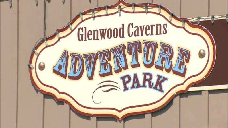 Glenwood Caverns Adventure Park sign