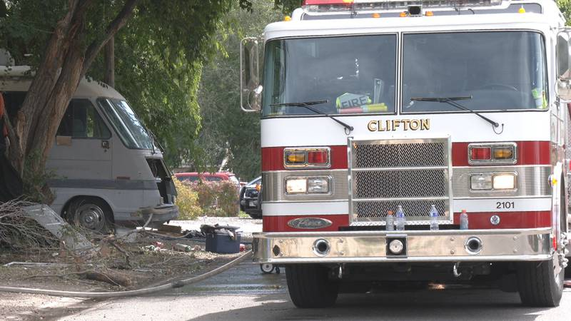 Firefighters arrived to the scene on Sun. afternoon in the Clifton area.