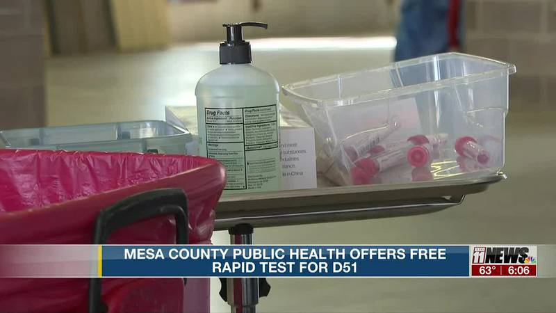 Mesa County Public Health Offers Free Rapid Test for D51