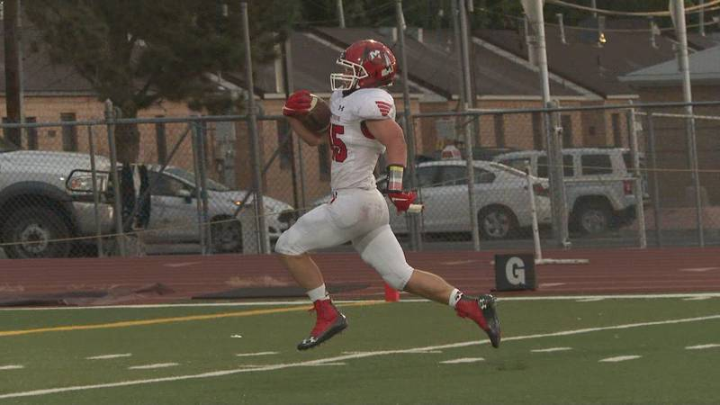 Austin Griffin rushed for two touchdowns in the Indians' season opener against Central.