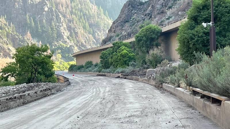 CDOT shard this photo of the progress made after mudslides on I-70 near Glenwood Canyon....