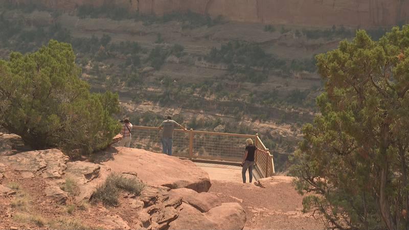 Visitors at Colorado National Monument