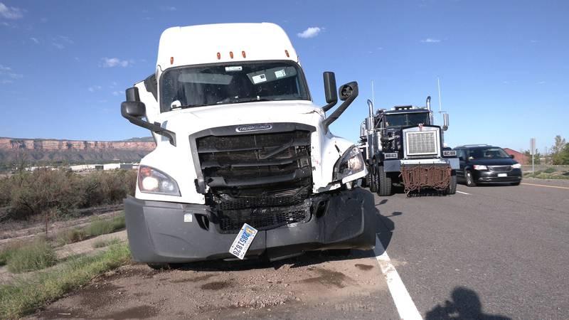 Crash on I-70 involving two semi-trucks