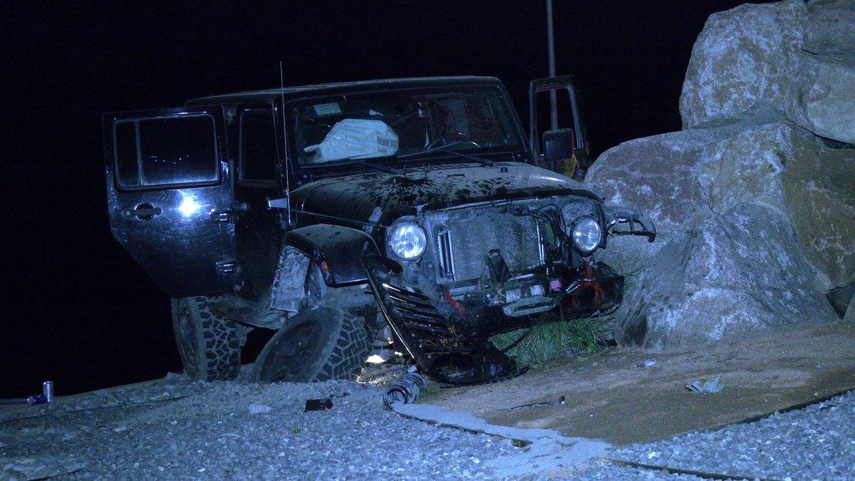 Vehicle crashes into new Fruita sculptures (Photo Credit: David Jones)