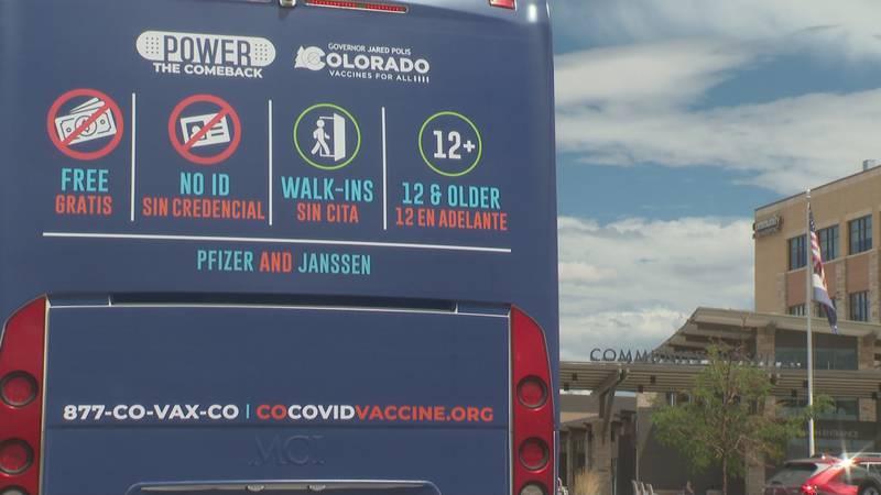 Colorado's mobile vaccine bus at Community Hospital