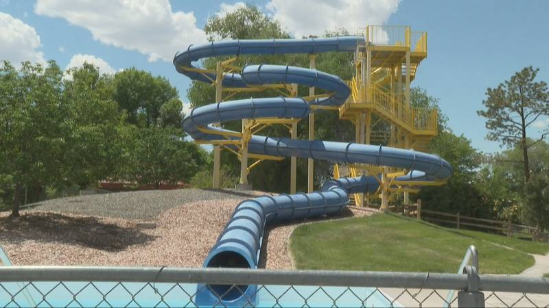 Water slide at Lincoln Parks Moyer Pool