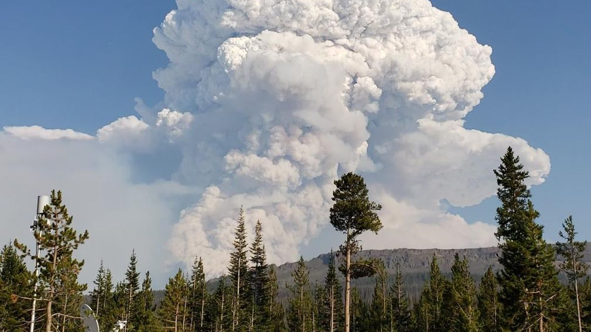 The fire is currently burning 102,596 acres.
