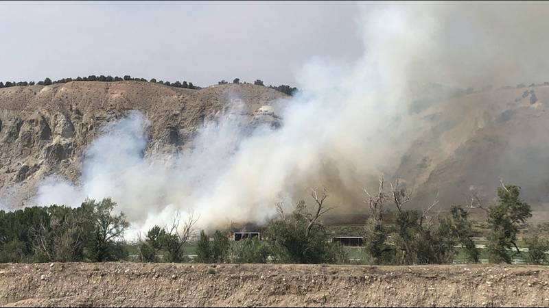 Flash flood warning in Glenwood Canyon and wildfire between Eagle and Gypsum