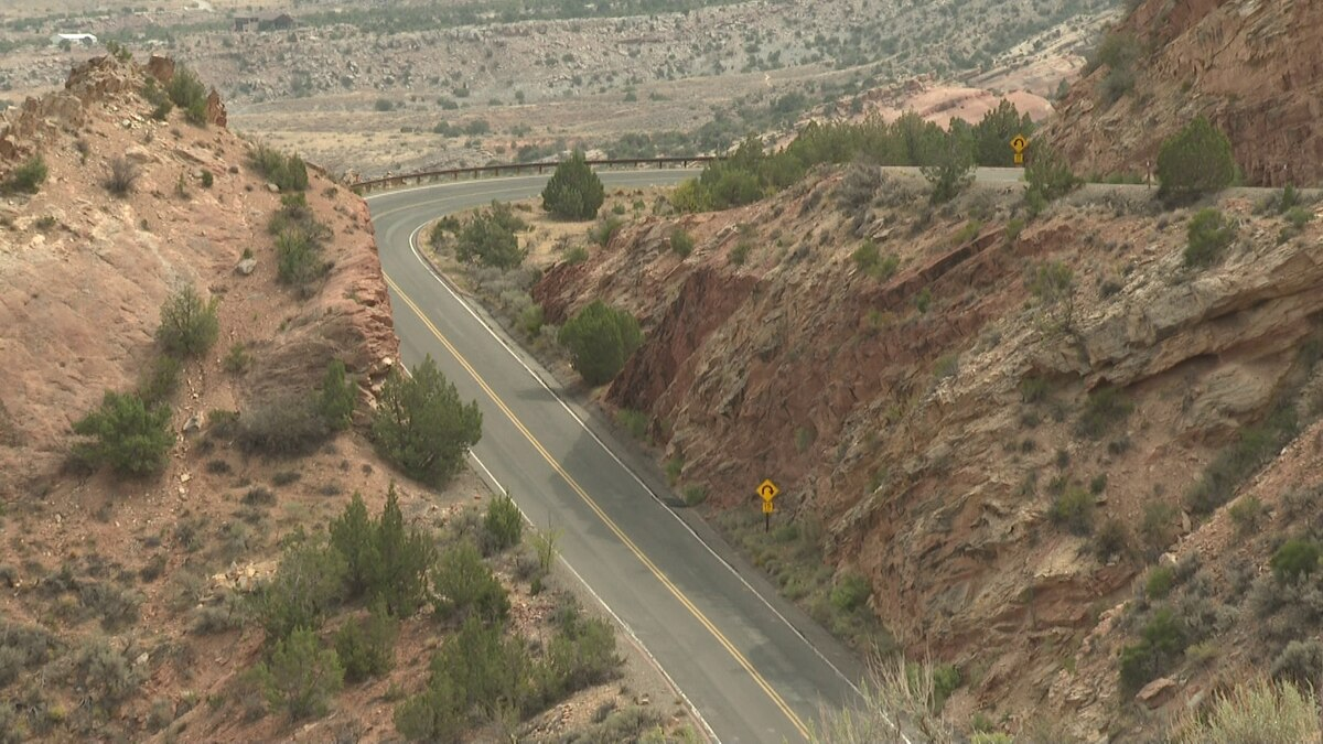 Picture taken from the west end of the Colorado National Monument near where the accident...