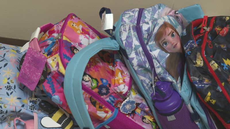 Church collects school supplies for kids