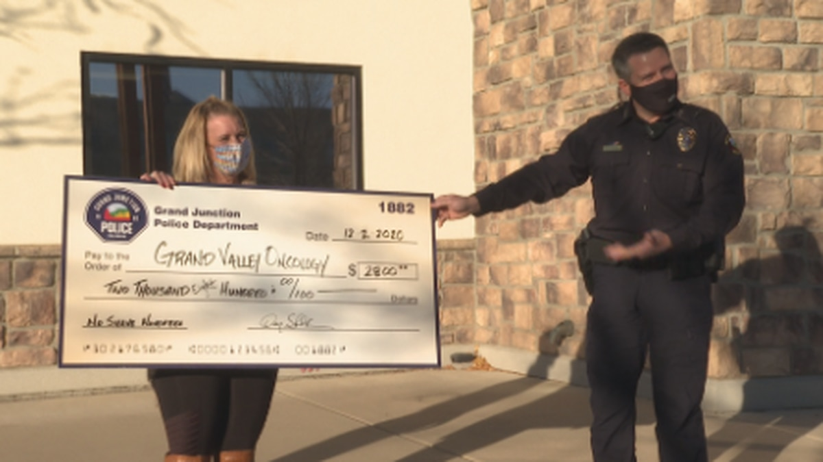 GJPD donates to Grand Valley Oncology following 'No Shave November'