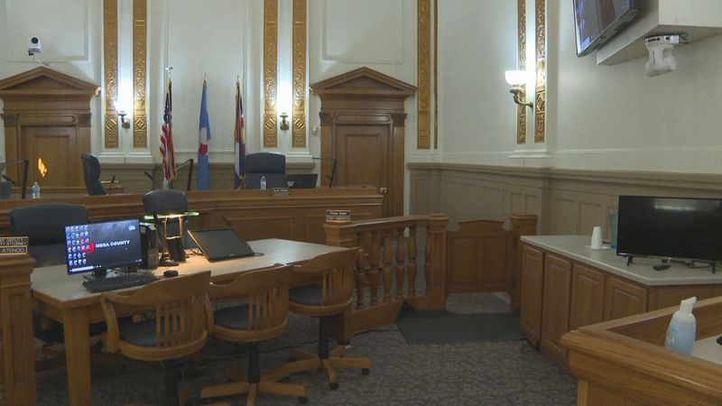 The Mesa County Board of Commissioners convened inside the Old Mesa County Courthouse.