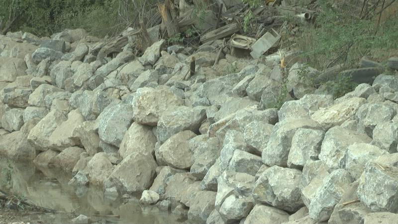 The cliffside along Roan Creek in De Beque was strengthened over the summer to protect at-risk...