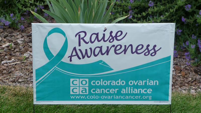 Sign of Ovarian Cancer at Jodi's Race for Awareness