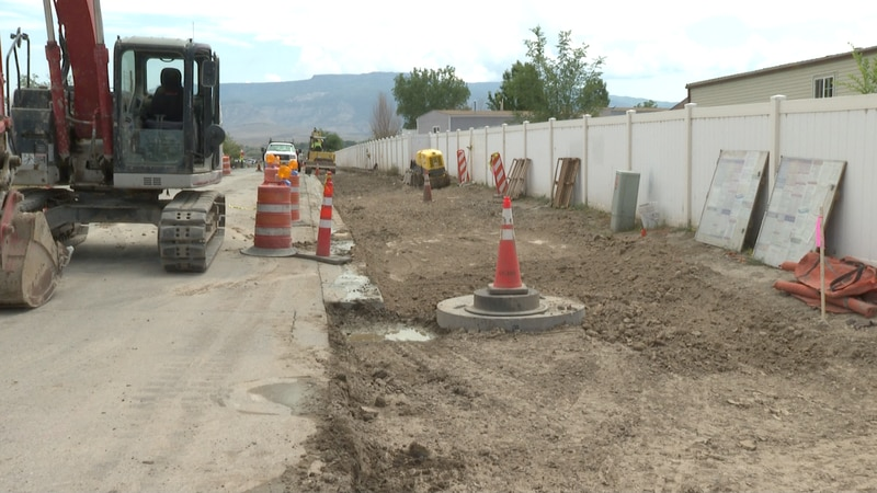 Sidewalk project nearing completion for Rocky Mountain Elementary School