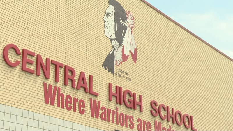 The current Central High School mascot features a Native American man.