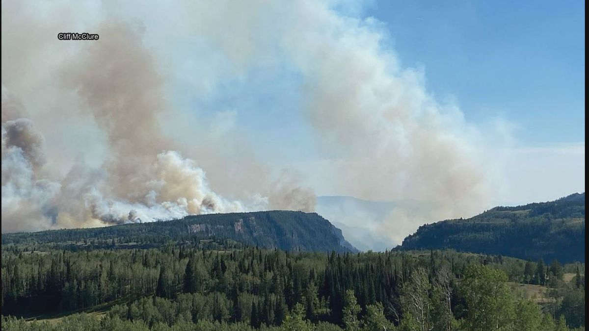 Grizzly Creek Fire in Colo., where Cliff McClure, Fire Chief of Interior VFD is deployed
