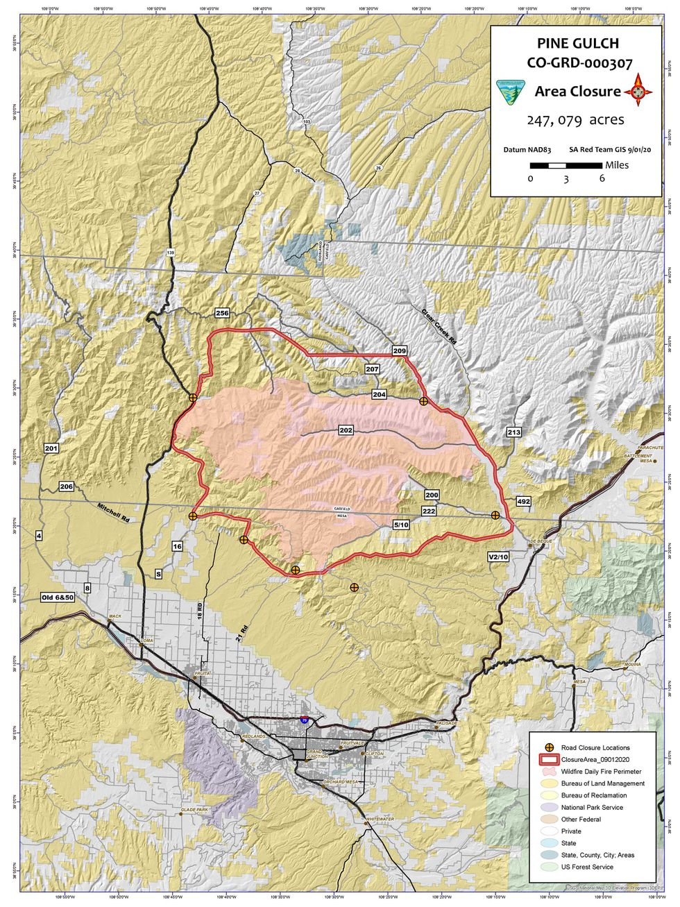 The BLM says that the closure is to ensure public and firefighter safety during suppression and...