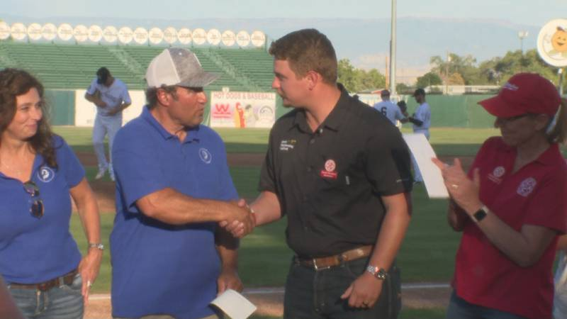 The WCCA presented the donation to Harmony Acres at the Grand Junction Rockies game on Thursday.