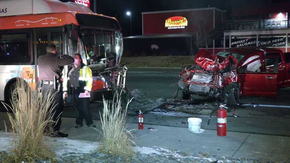 Bus collision closes North Ave on New Years Eve
