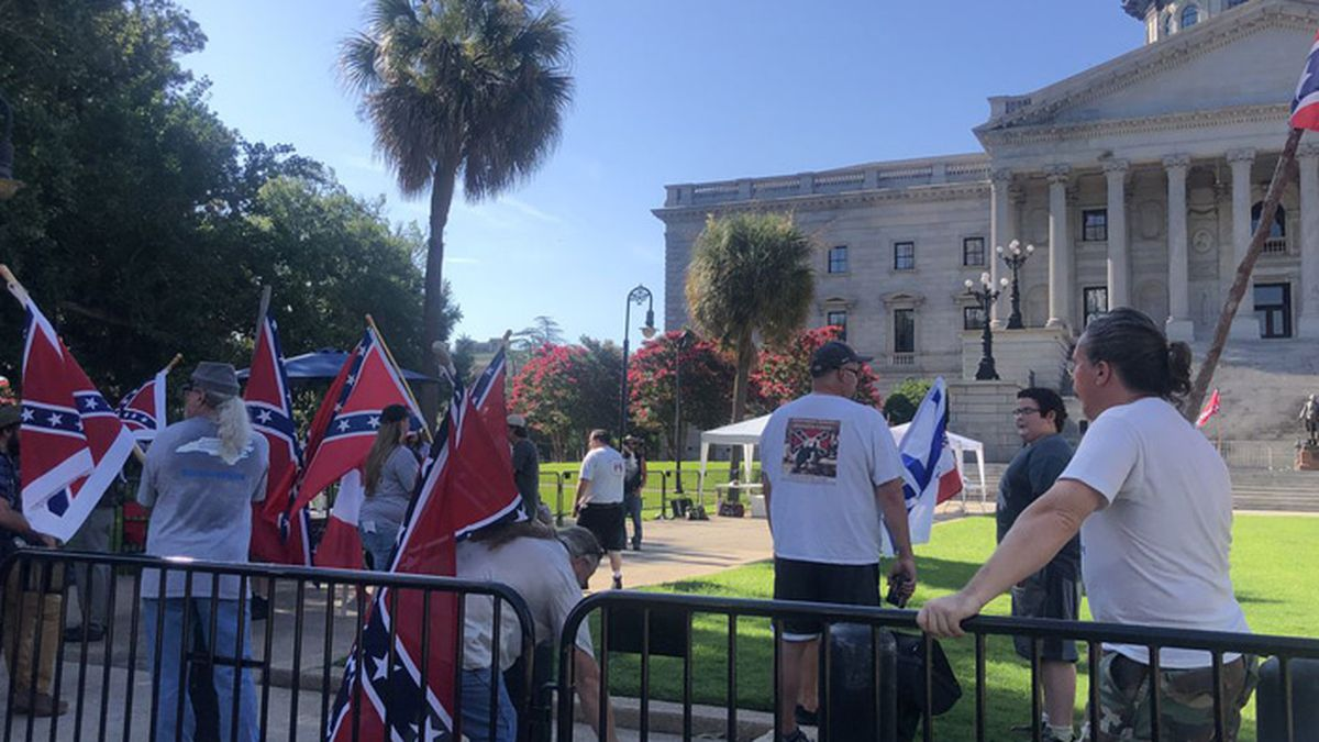 A group held a pro-Confederate flag rally in Columbia, S.C. on Saturday, days after the fourth...