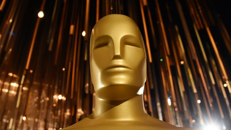 An Oscar statue is pictured at the Governors Ball Press Preview for the 92nd Academy Awards at...