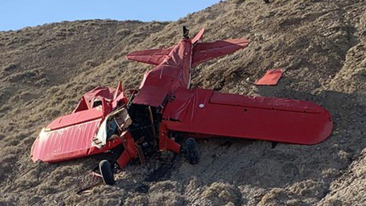 Airplane crash northeast of Delta, Colorado
