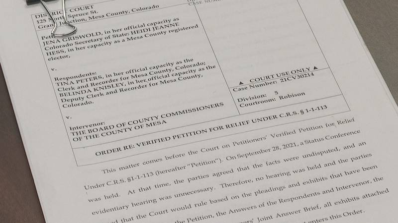 Court documents outlining District Court Judge Valerie J. Robison's ruling in the civil case...