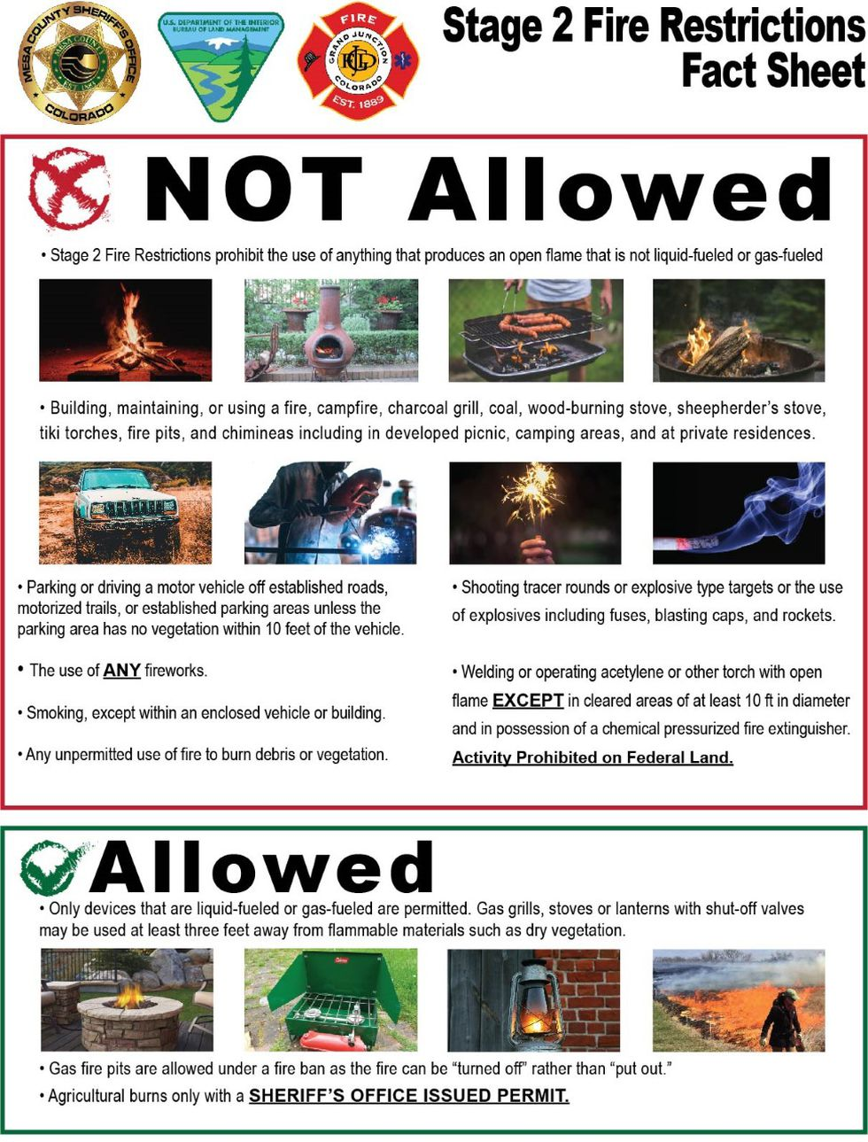 What is allowed and what's not allowed under Stage 2 restrictions.