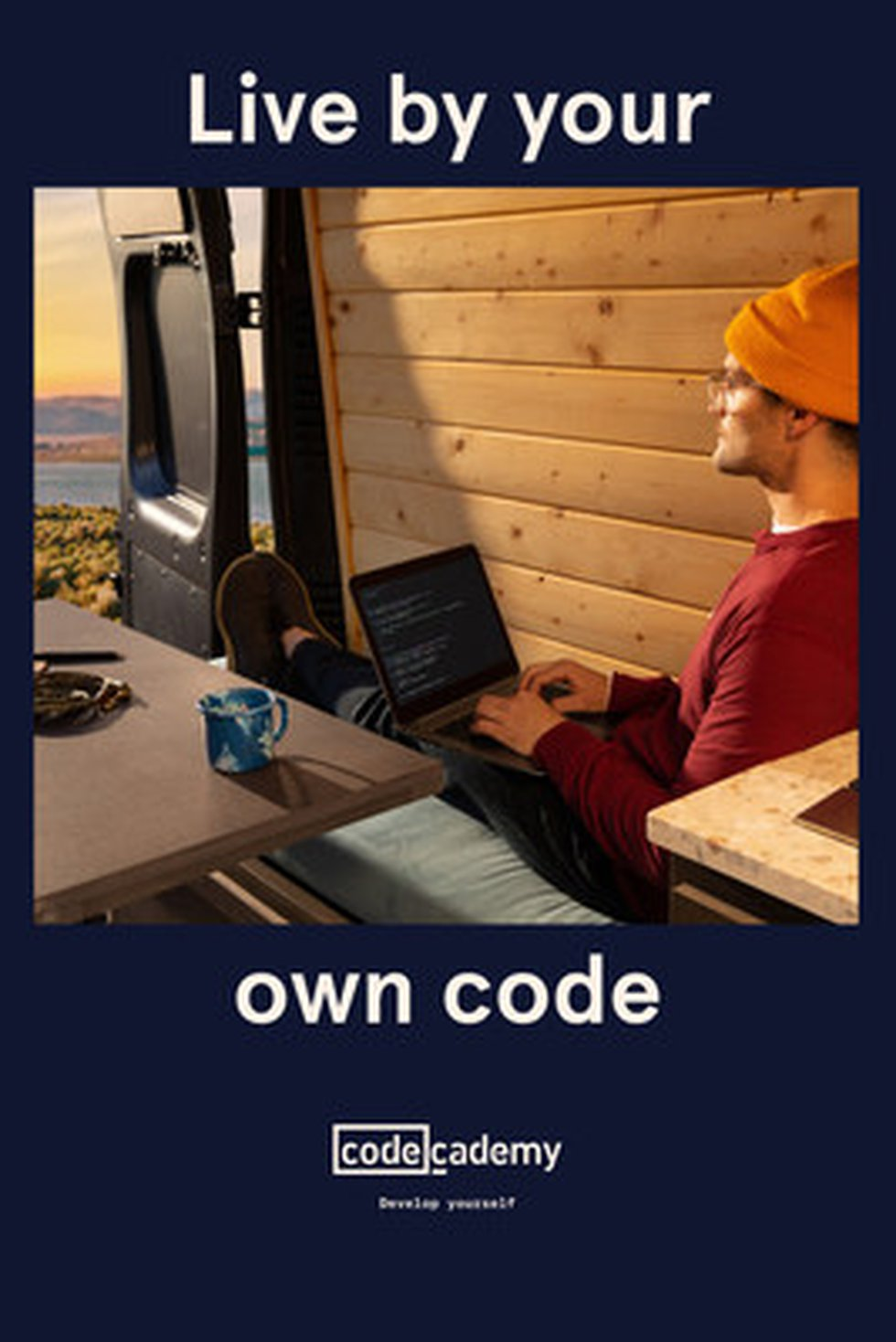Codecademy's 'Live By Your Own Code' brand campaign