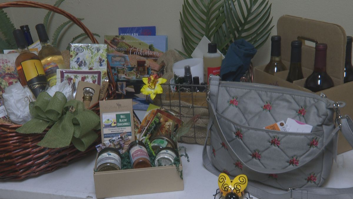 Silent auction wine baskets and gifts