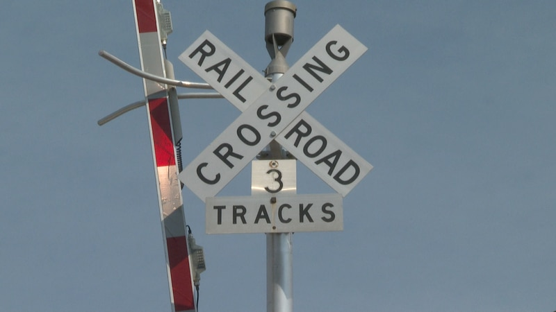 Railroad Crossing on 7th street in Grand Junction