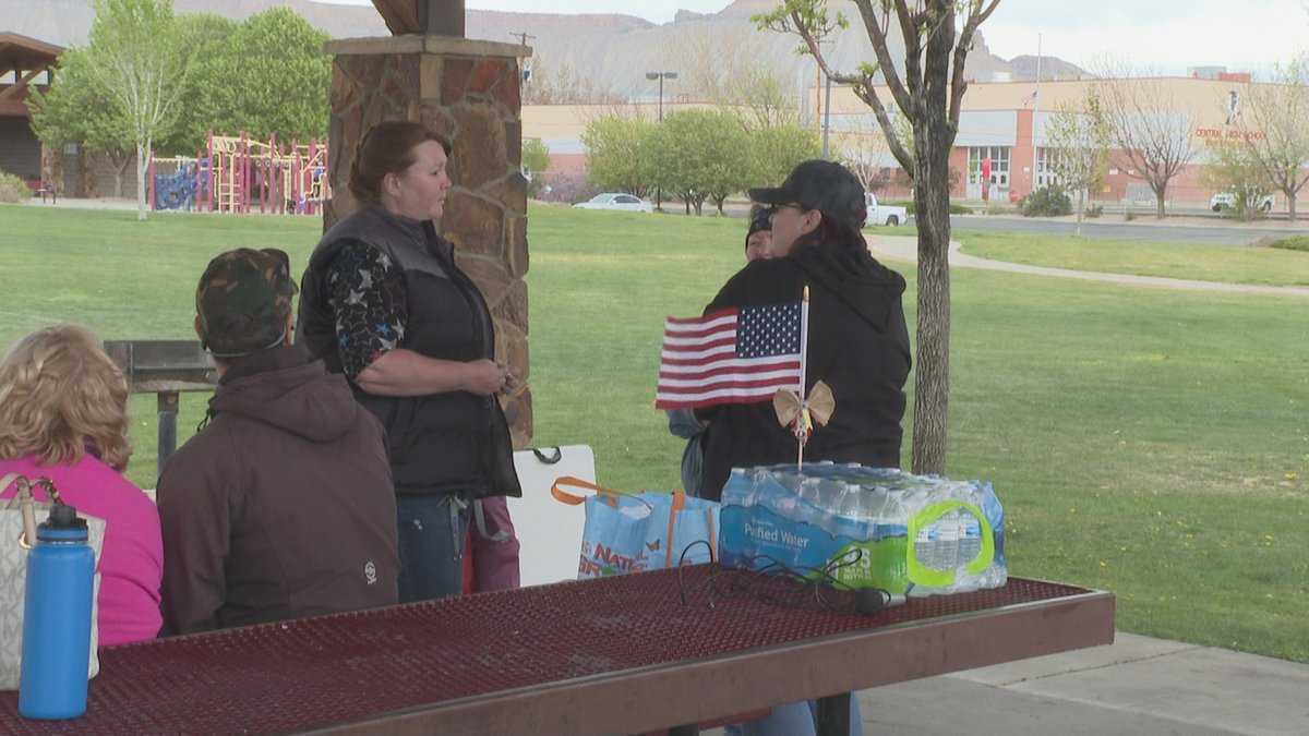 A group of concerned citizens gathered to protest mask mandates at District 51 schools in Grand...