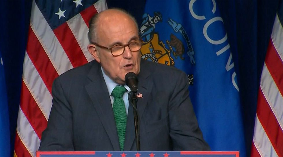 Rudy Giuliani filed Tuesday morning to represent Trump in the case. He has not entered an...