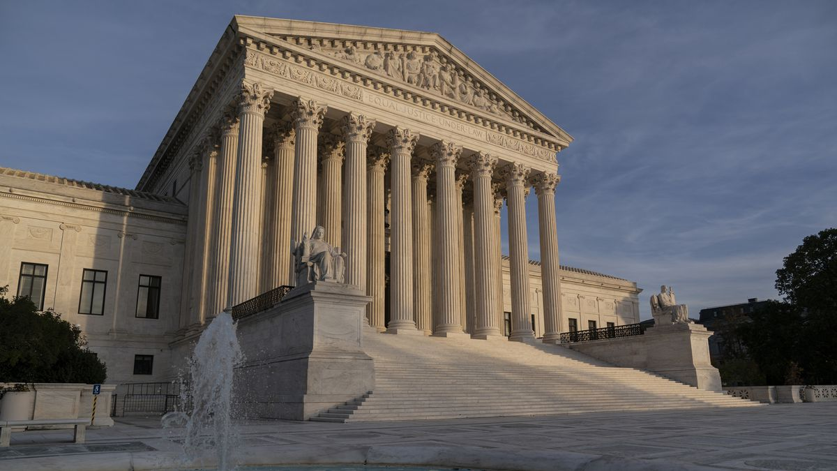 The Supreme Court is seen in Washington, Thursday, Nov. 5, 2020.